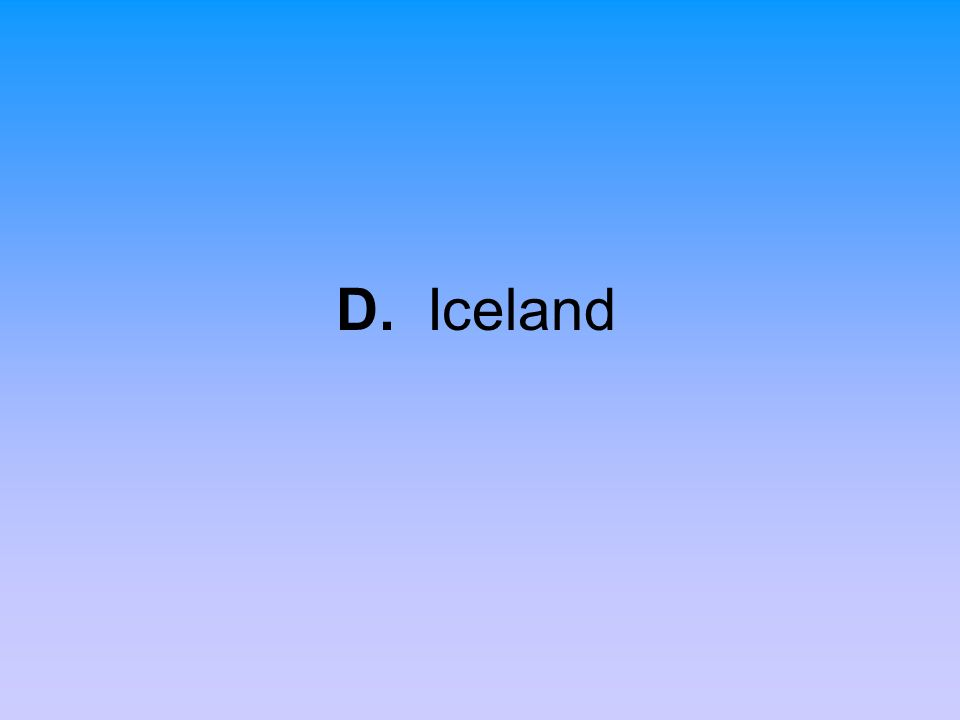 D. Iceland