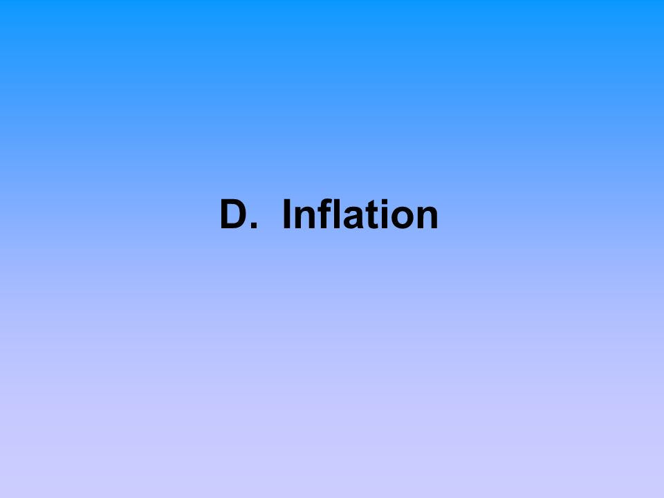 D. Inflation