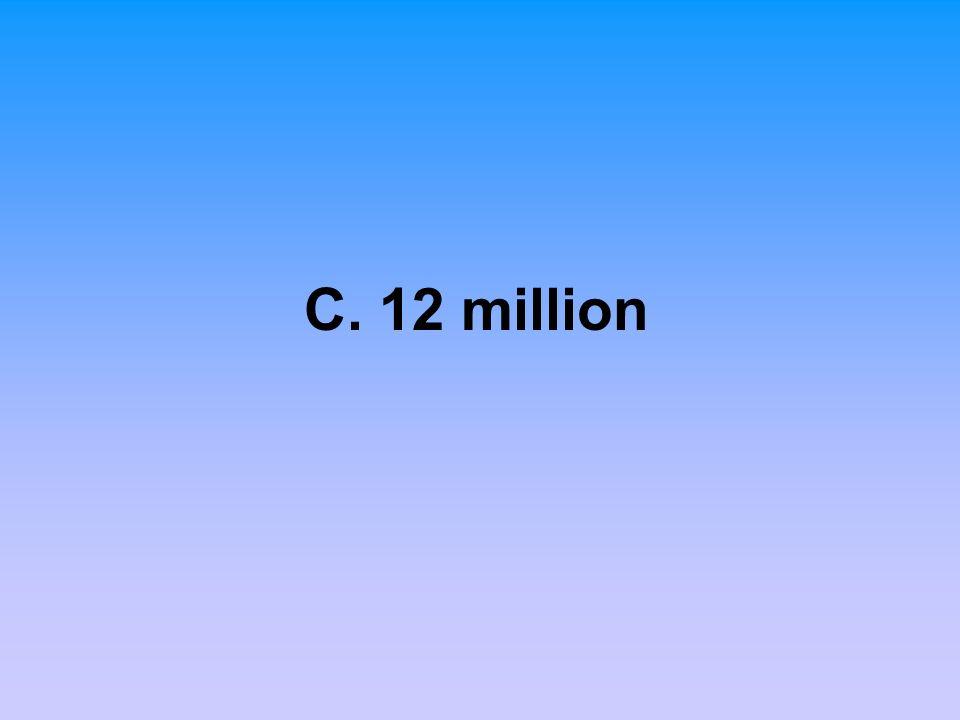 C. 12 million