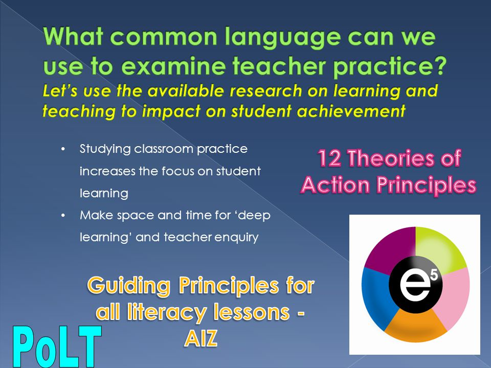 What common language can we use to examine teacher practice