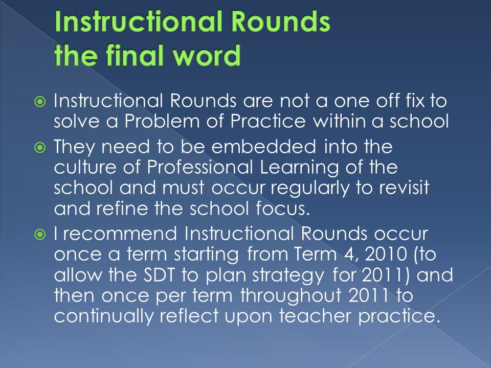 Instructional Rounds the final word