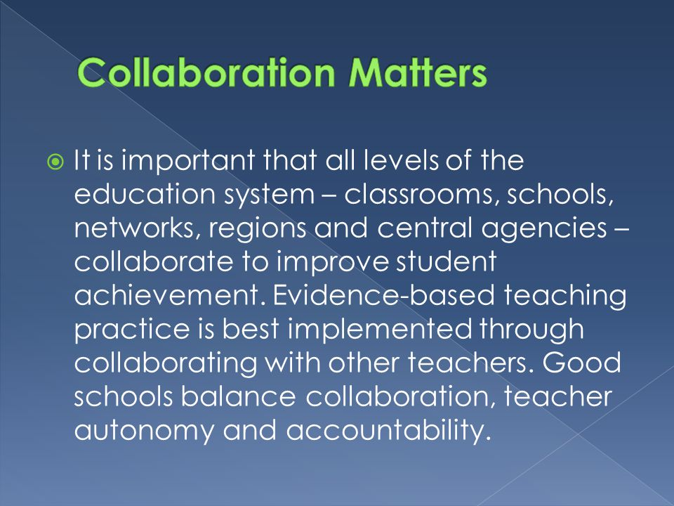 Collaboration Matters