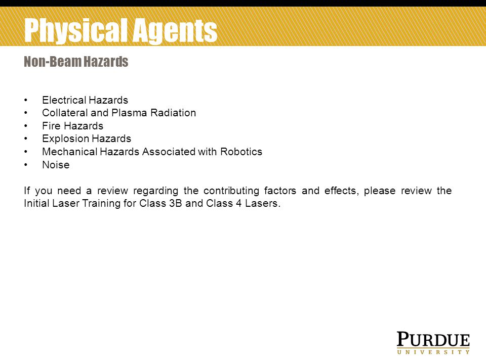 Physical Agents Non-Beam Hazards Electrical Hazards