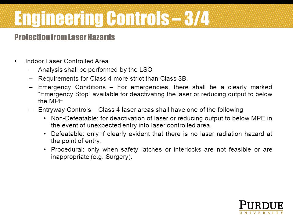 Engineering Controls – 3/4