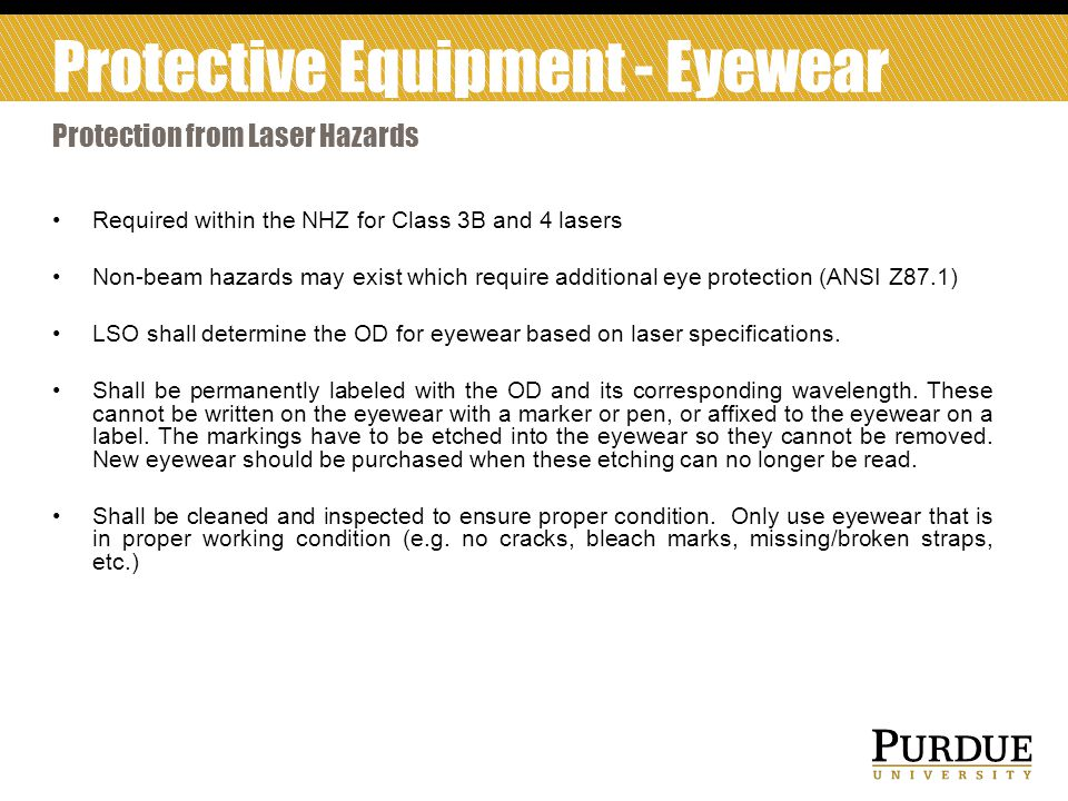 Protective Equipment - Eyewear