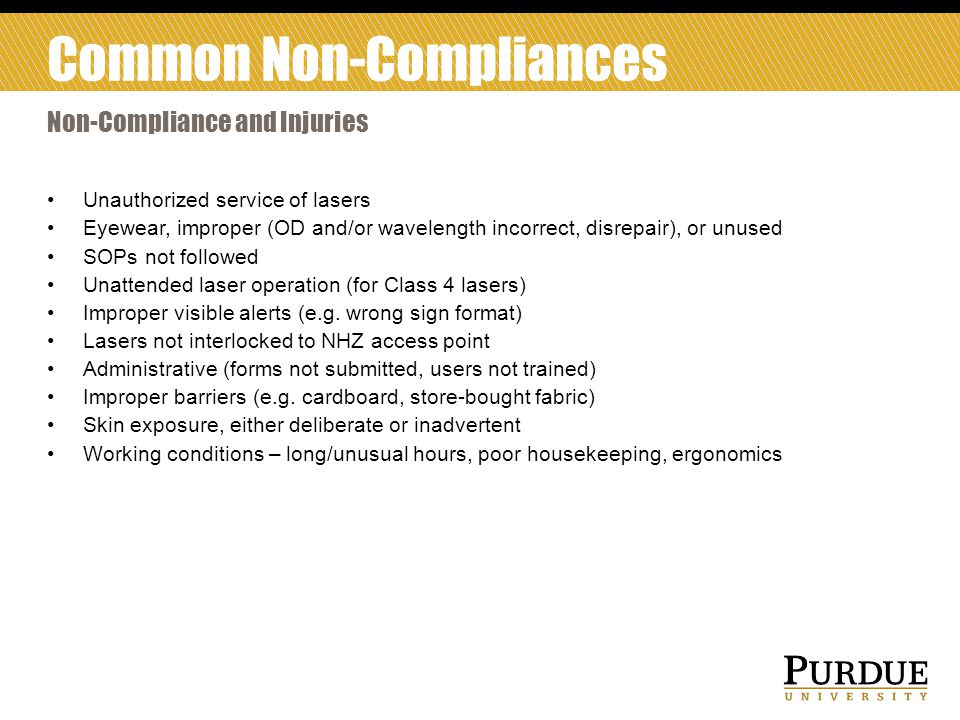 Common Non-Compliances