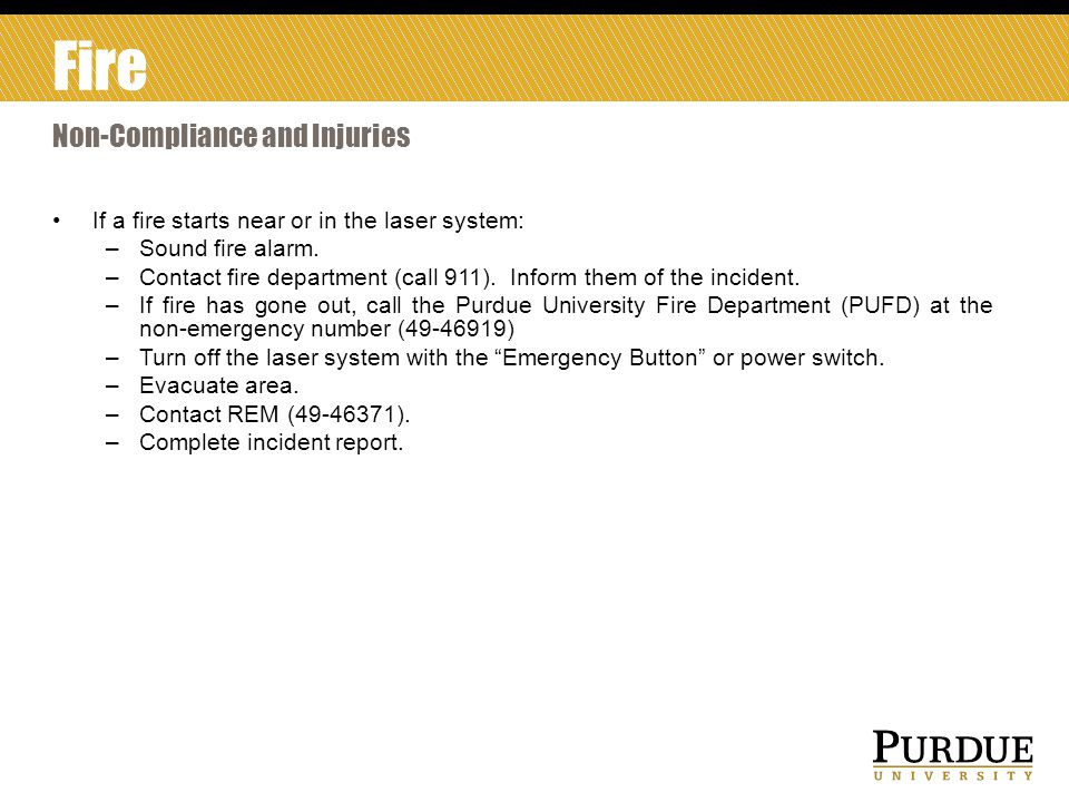 Fire Non-Compliance and Injuries