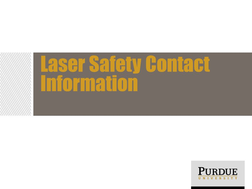Laser Safety Contact Information
