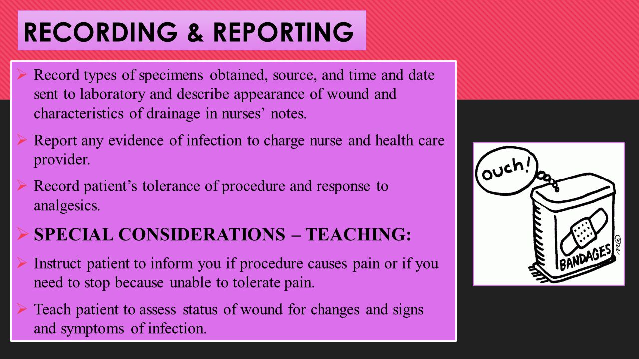 RECORDING & REPORTING SPECIAL CONSIDERATIONS – TEACHING: