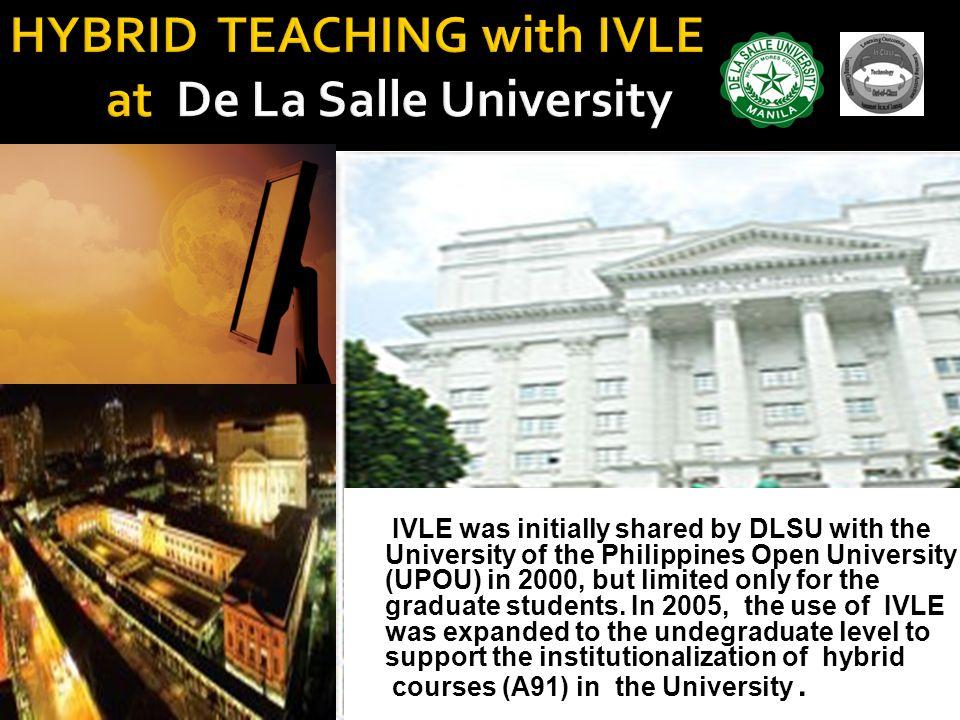 HYBRID TEACHING with IVLE at De La Salle University