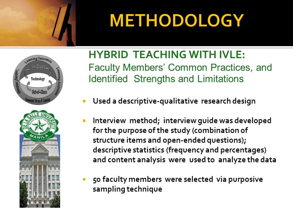 METHODOLOGY HYBRID TEACHING WITH IVLE: