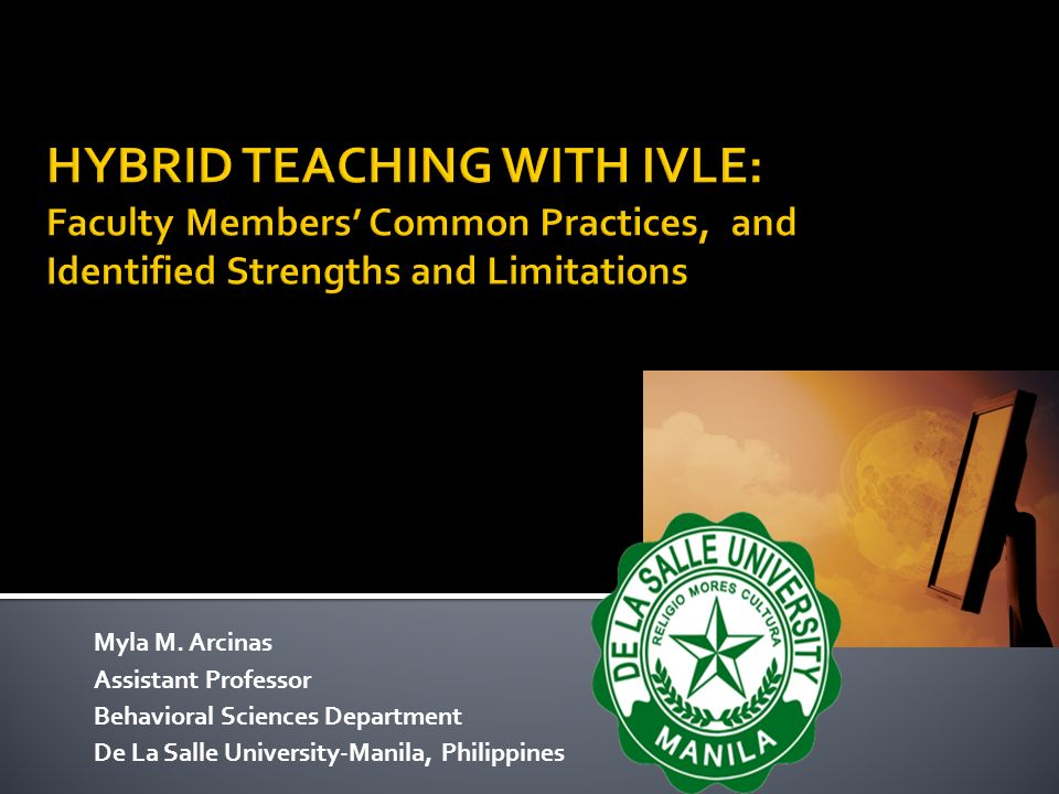 HYBRID TEACHING WITH IVLE: Faculty Members' Common Practices, and Identified Strengths and Limitations