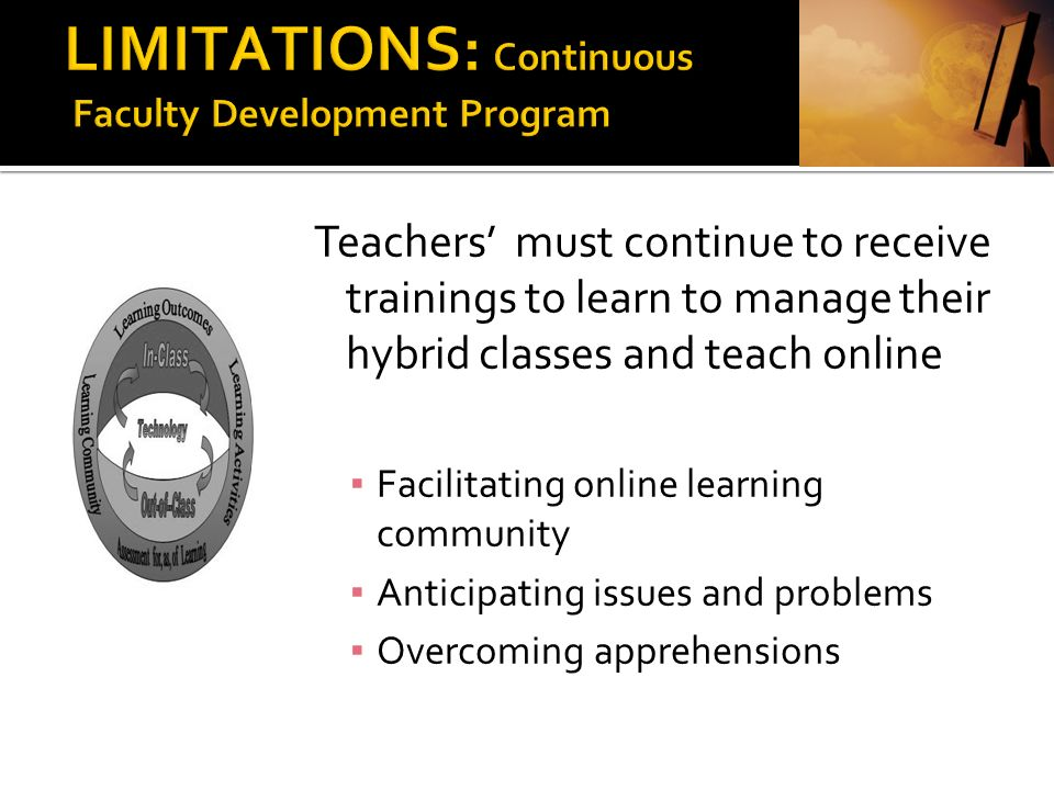 LIMITATIONS: Continuous Faculty Development Program