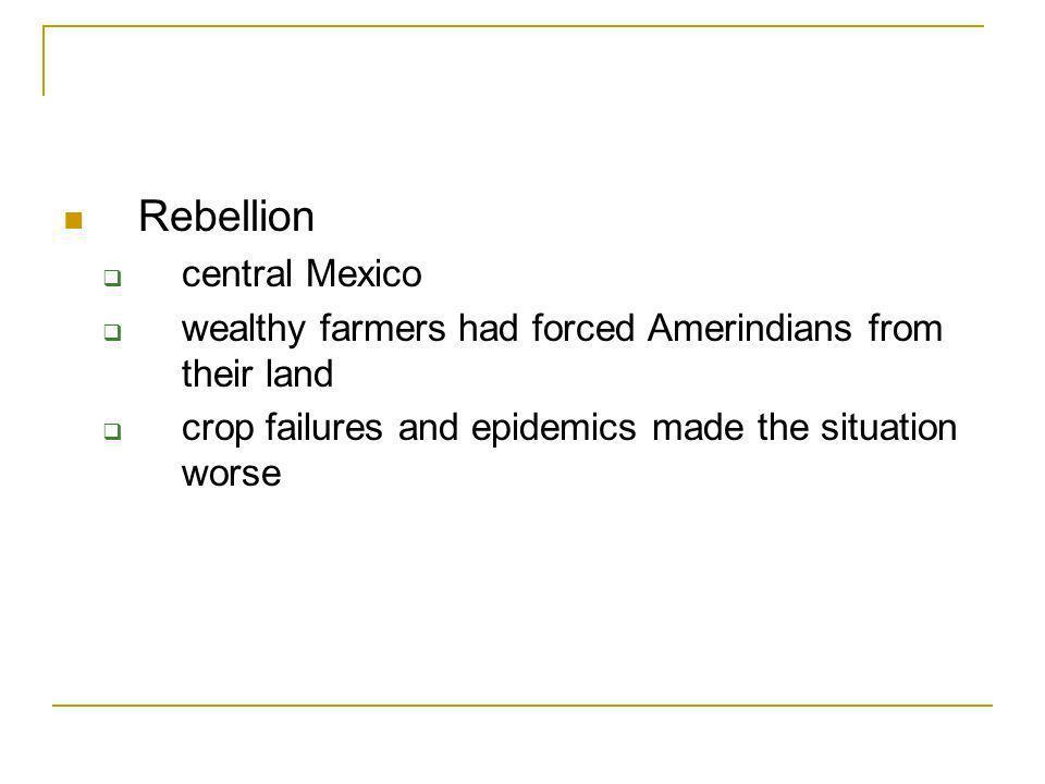 Rebellion central Mexico