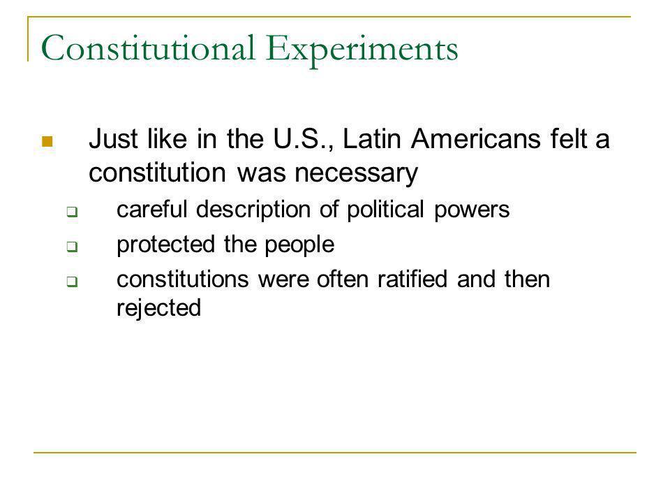 Constitutional Experiments