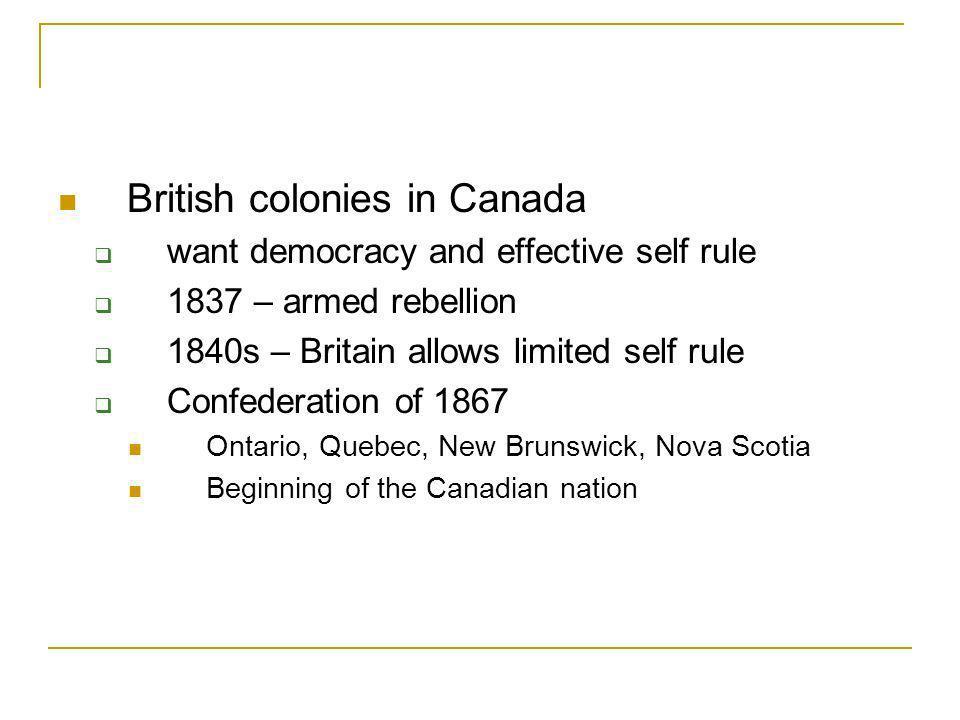 British colonies in Canada