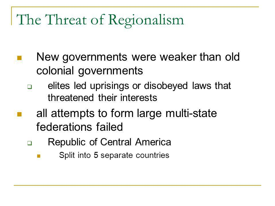 The Threat of Regionalism