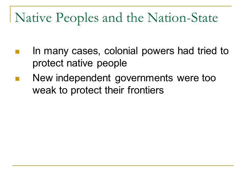 Native Peoples and the Nation-State