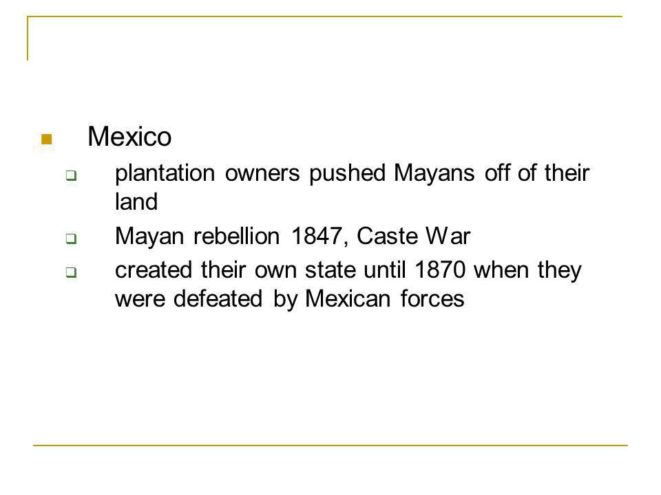 Mexico plantation owners pushed Mayans off of their land