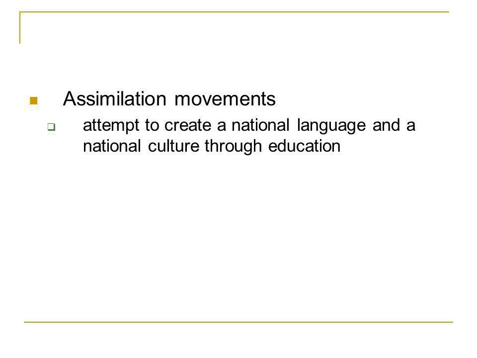 Assimilation movements
