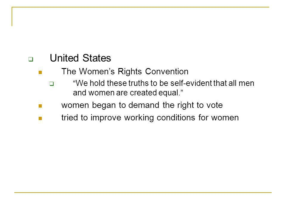 United States The Women's Rights Convention