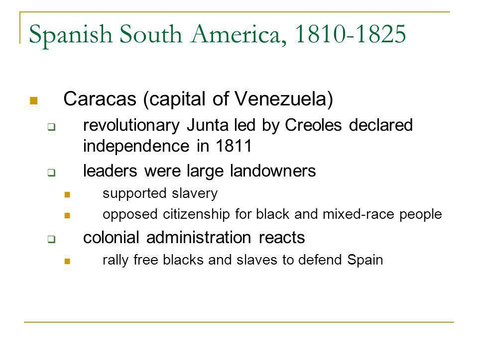 Spanish South America, 1810-1825
