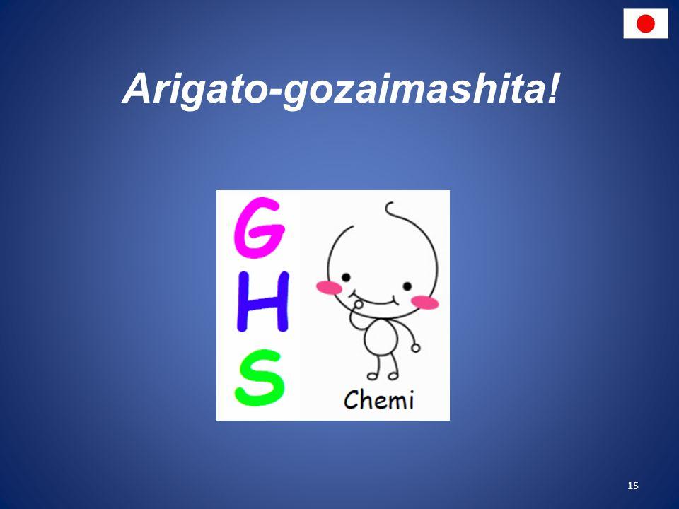 Arigato-gozaimashita!