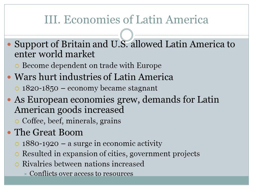 III. Economies of Latin America
