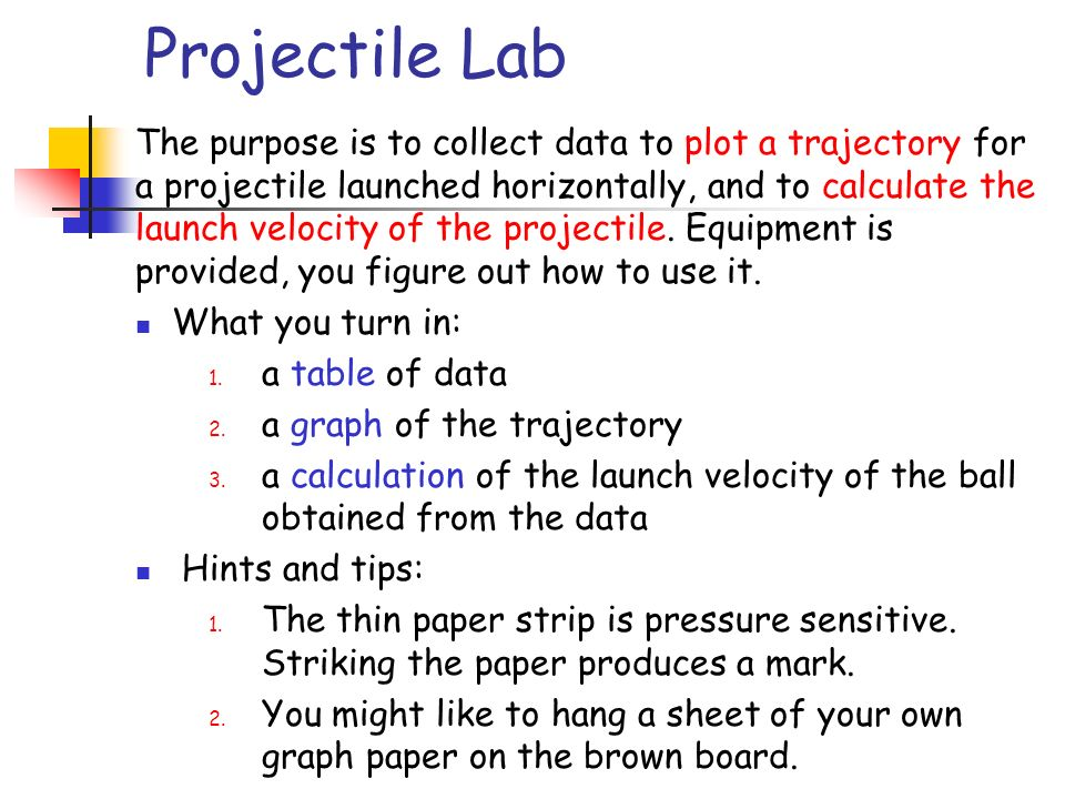 Projectile Lab