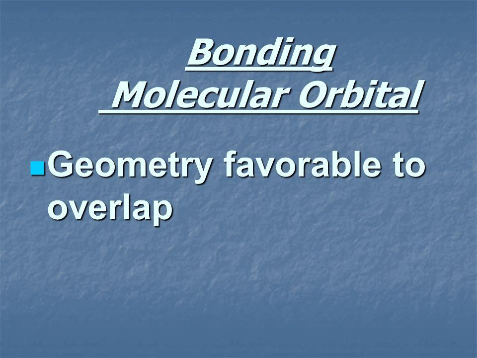 Bonding Molecular Orbital