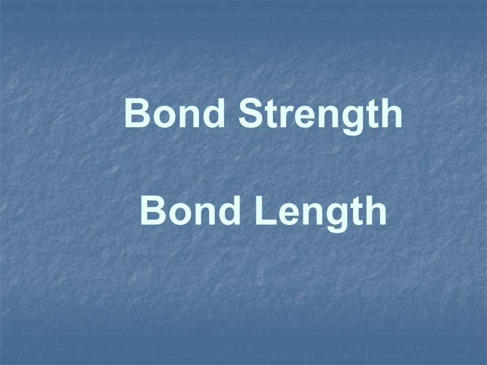 Bond Strength Bond Length