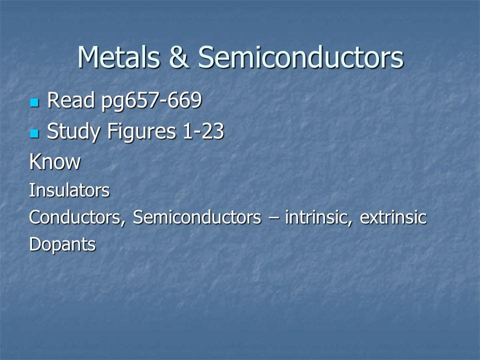 Metals & Semiconductors