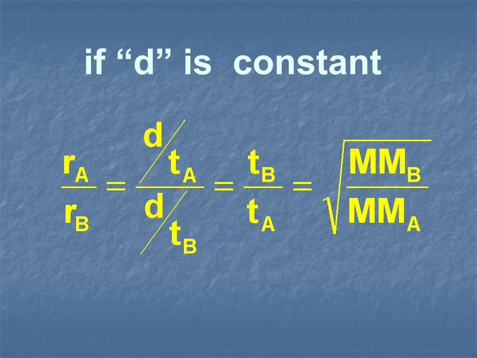 if d is constant