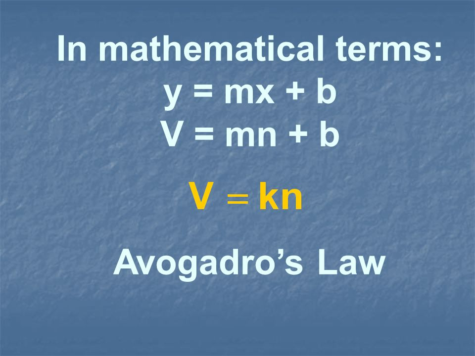 In mathematical terms: