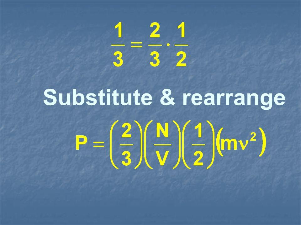 Substitute & rearrange