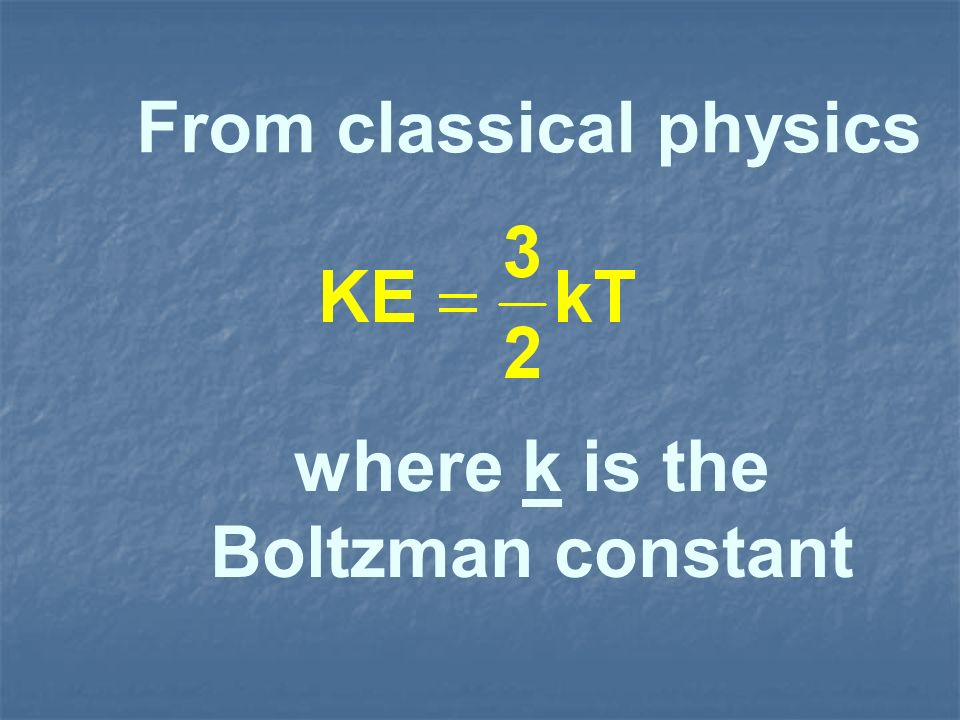From classical physics