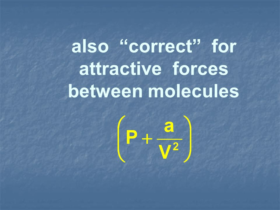 attractive forces between molecules