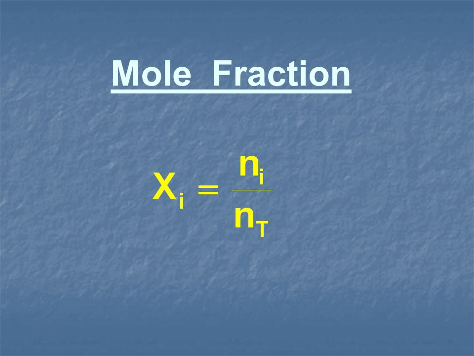 Mole Fraction