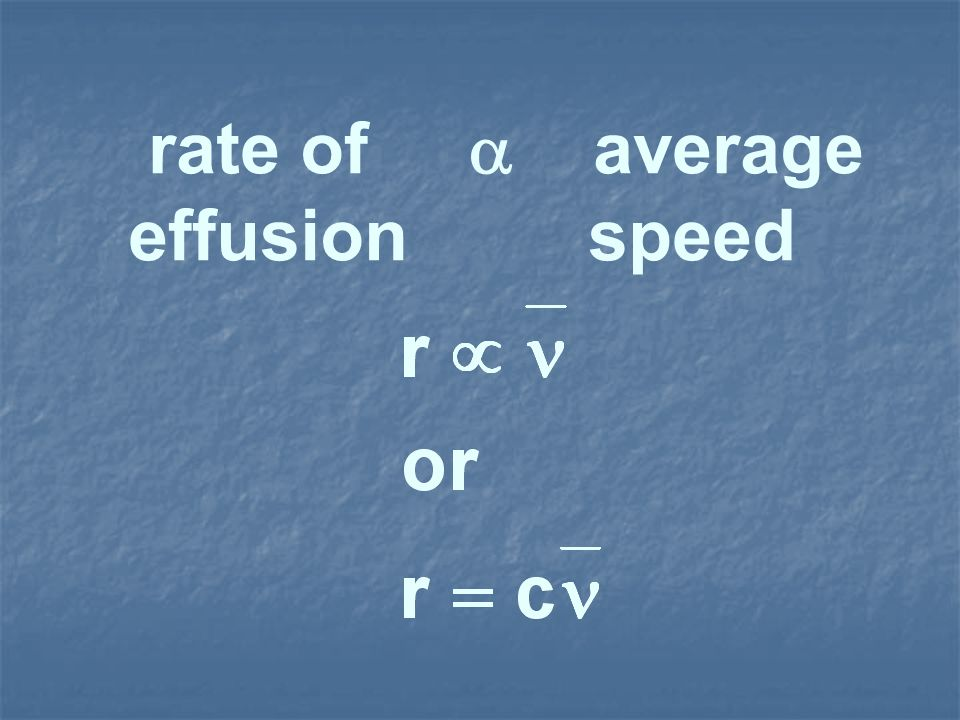 rate of  average effusion speed