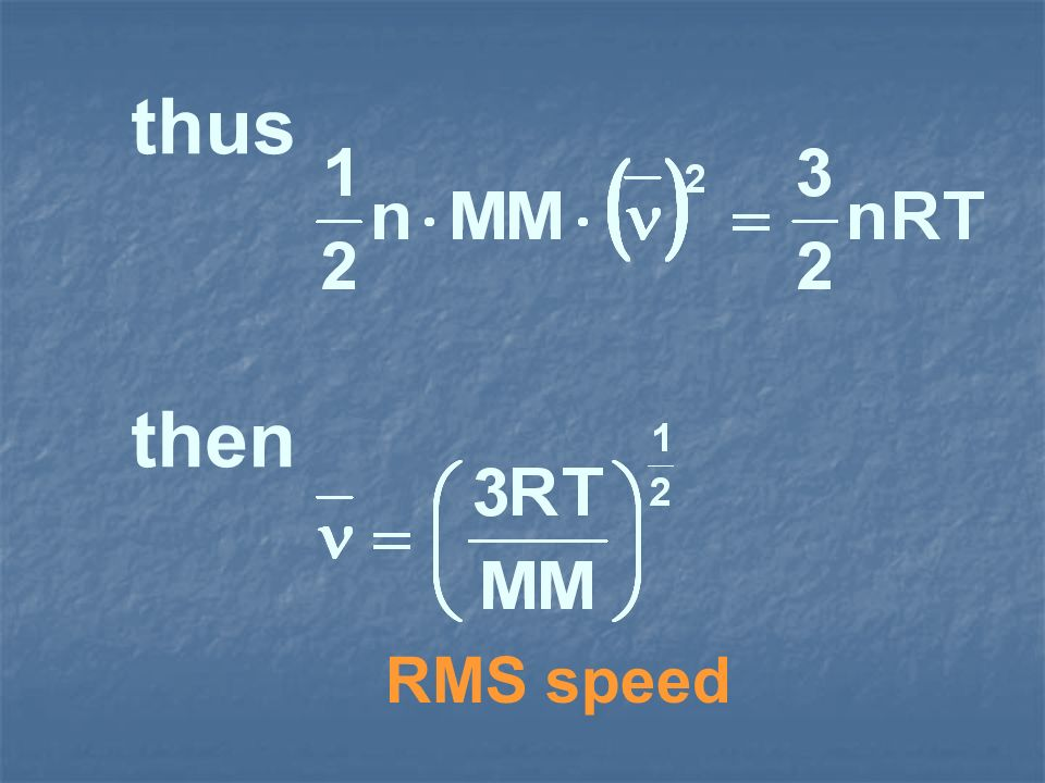 thus then RMS speed