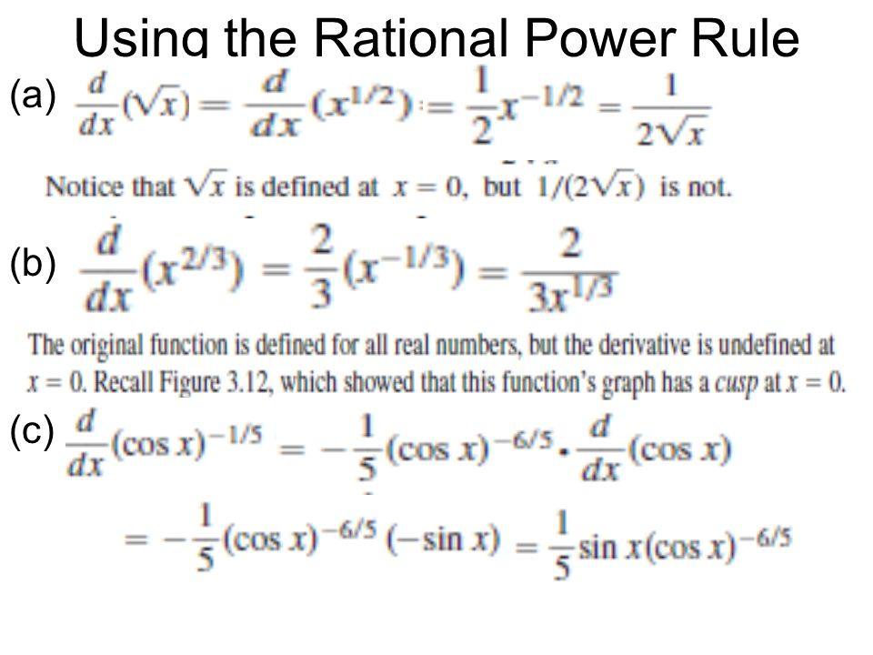 Using the Rational Power Rule