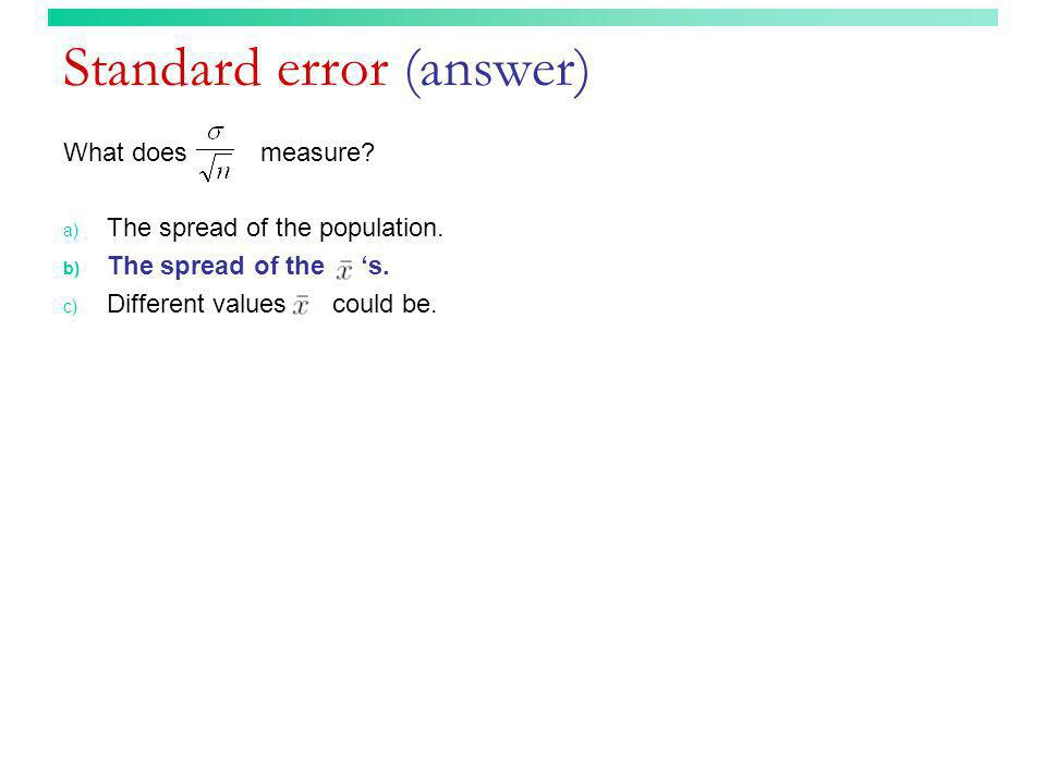 Standard error (answer)