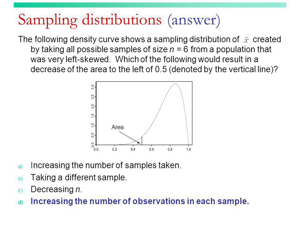 Sampling distributions (answer)