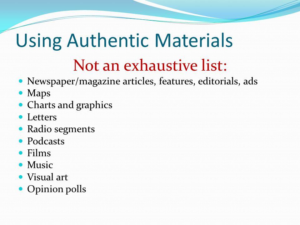 Using Authentic Materials