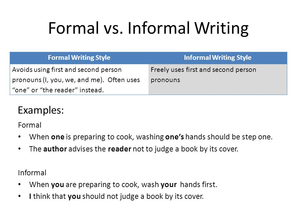 formal writting