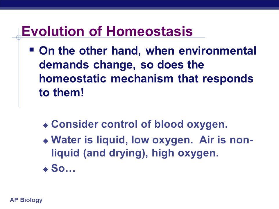 Evolution of Homeostasis