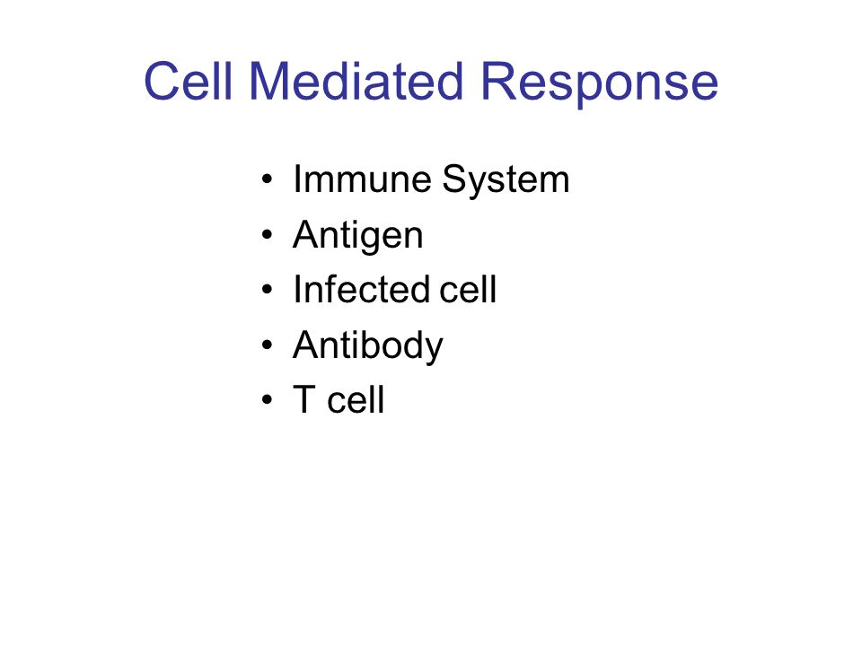 Cell Mediated Response