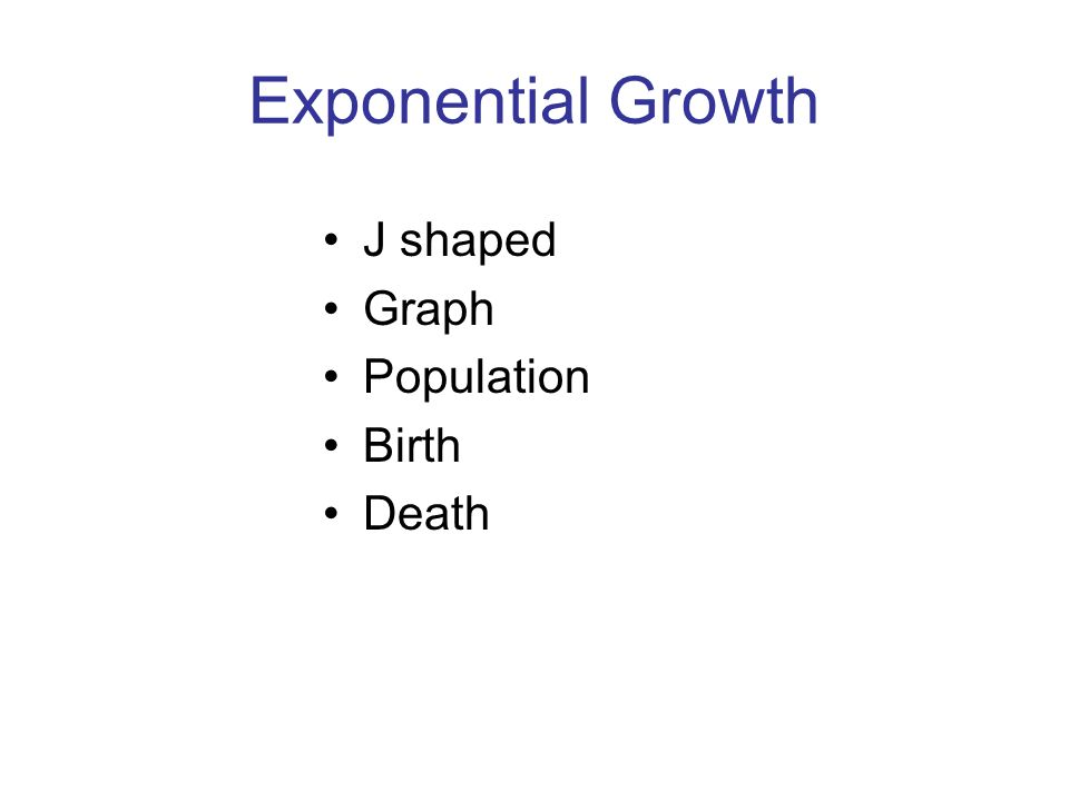 Exponential Growth J shaped Graph Population Birth Death