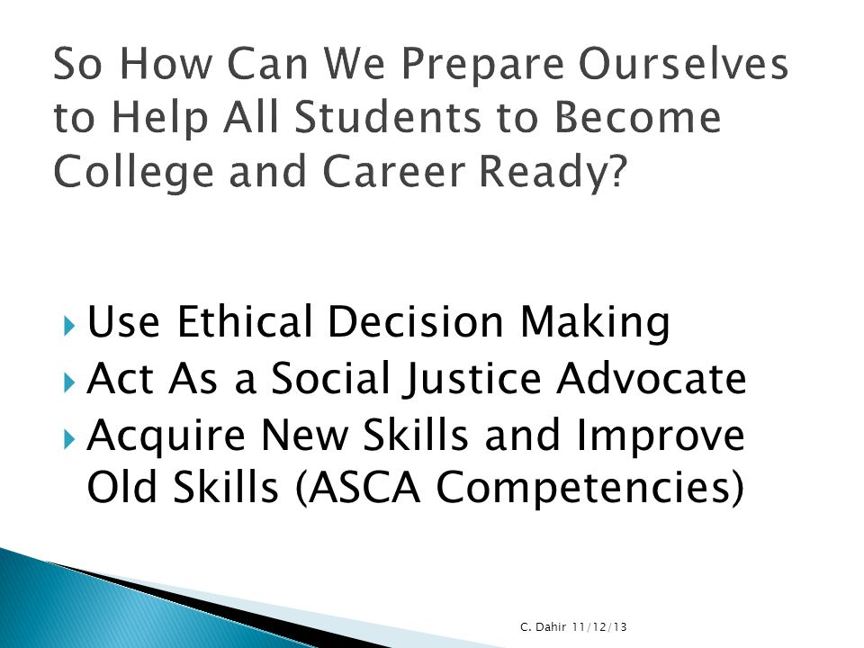 So How Can We Prepare Ourselves to Help All Students to Become College and Career Ready