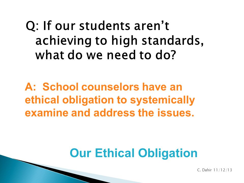 Our Ethical Obligation